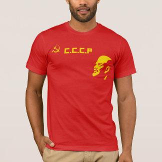 Camisa retro de Lenin T do martelo e da foice de