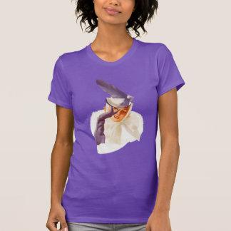 Camisa retro de Pin-UPS T das MENINAS MÁS da T-shirt
