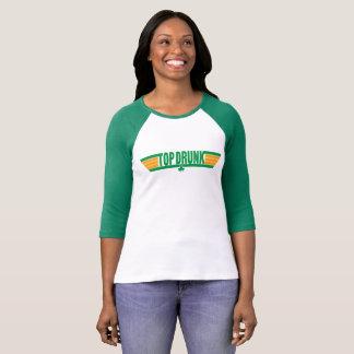 Camisa retro do dia de St Patrick bêbedo superior