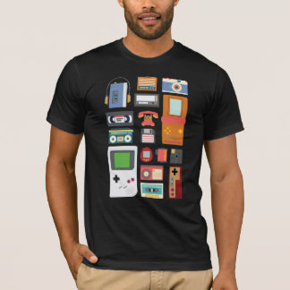 Camisa retro do presente dos dispositivos da