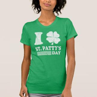 Camisa retro do T de St Patrick do amor de I