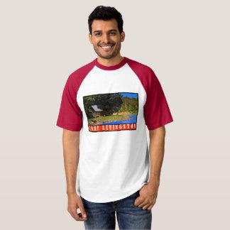 Camisa retro do viagem de Livingston Texas do lago