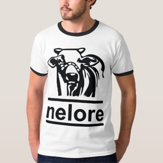 Camisa Ringer Nelore Branco/Preto