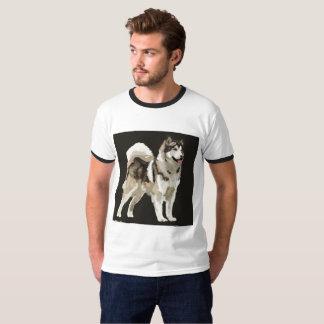 Camisa ronca do homem do cão do desenho