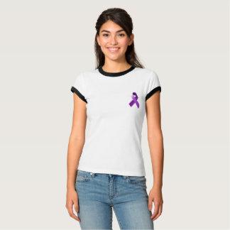 Camisa roxa da consciência da fita