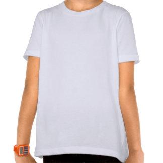 Camisa roxa das meninas das pétalas camisetas