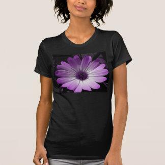 Camisa roxa das senhoras T da flor da margarida
