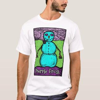 Camisa roxa de Frost SOS T das caras