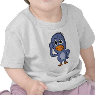 Camisa roxa do bebê do pinguim camisetas