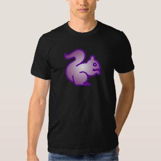 Camisa roxa do esquilo camisetas