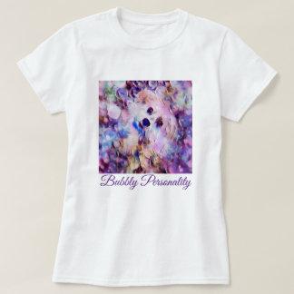 """Camisa roxa T """" das bolhas bonitos do filhote de"""