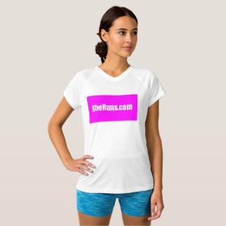 camisa Running quadrada cor-de-rosa do exercício