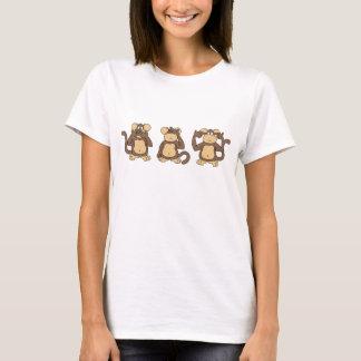Camisa sábia de três macacos