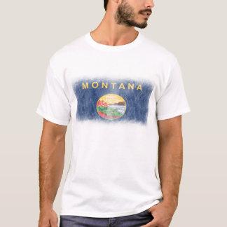 Camisa Scratchy da bandeira de Montana