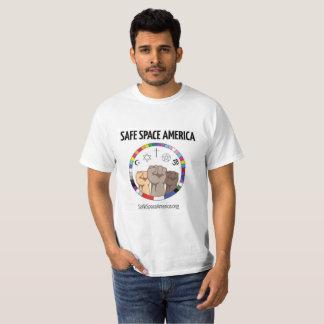 Camisa segura do logotipo de América do espaço