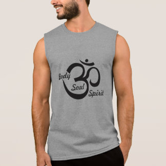 Camisa sem mangas da ioga - corpo, alma & espírito