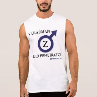 Camisa sem mangas do exercício de ZakarMan para