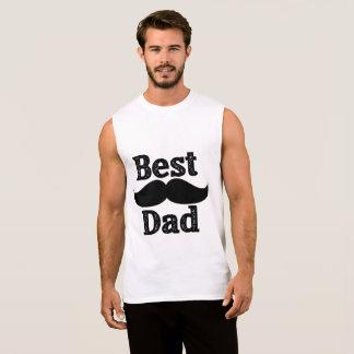 Camisa sem mangas do melhor pai T