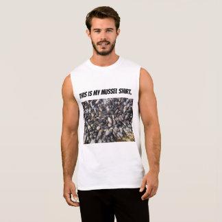 Camisa sem mangas do mexilhão