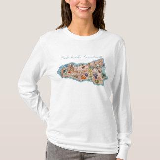 Camisa sensacional do branco de Sicília