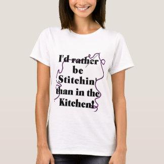 Camisa Sewing de T - humor
