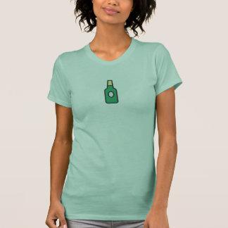 Camisa simples do ícone da garrafa de cerveja