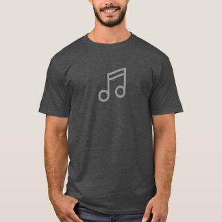 Camisa simples do ícone da nota musical