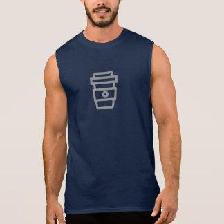 Camisa simples do ícone do café