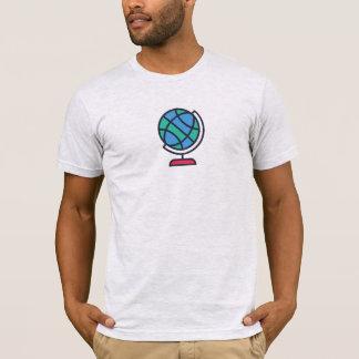 Camisa simples do ícone do globo