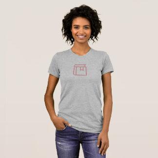 Camisa simples do ícone do marcador do presente