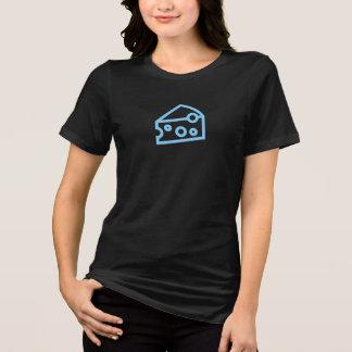 Camisa simples do ícone do queijo azul
