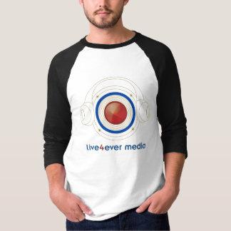 Camisa Sleeved longa dos meios T de Live4ever