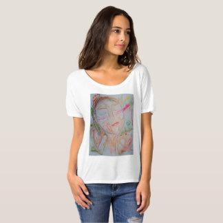 camisa slouchy do namorado t com design