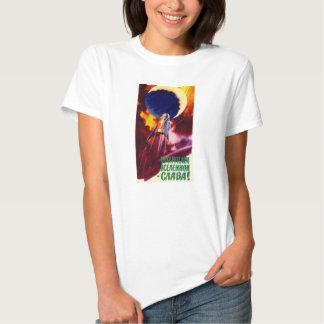 Camisa soviética do poster da propaganda do espaço camisetas