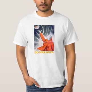 Camisa soviética do poster da propaganda do espaço t-shirts