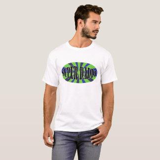 Camisa super do pai T com design corajoso do verde