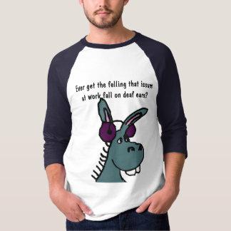 Camisa surda do humor do trabalho de asno DF
