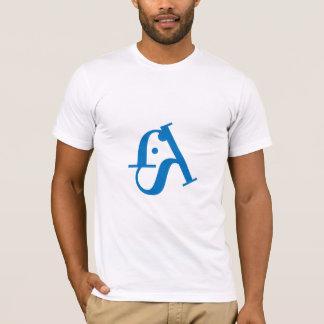 Camisa tipográfica do logotipo t dos peixes dos