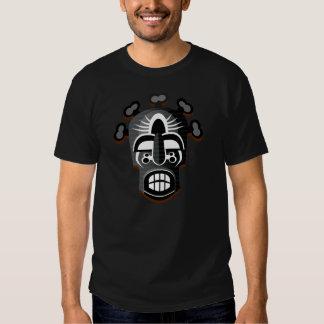 Camisa tribal da máscara 2 tshirts