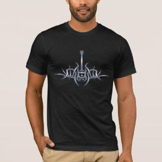 Camisa tribal do tatuagem da guitarra