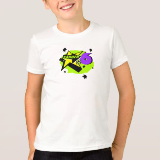 Camisa unisex do aniversário da criança de 6 anos