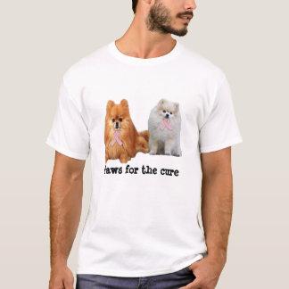 Camisa unisex do cancro da mama de Pomeranian