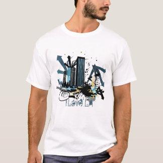 """Camisa urbana dos grafites da cidade """"eu amo o LA"""