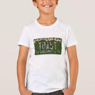 Camisa velha da matrícula de Colorado do vintage