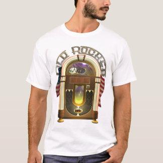 Camisa velha do balancim T do jukebox