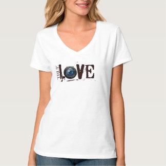 camisa verdadeira do amor da fotografia tshirt