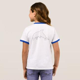 Camisa verdadeira do azul do golfinho