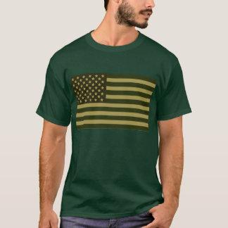 Camisa verde da bandeira americana