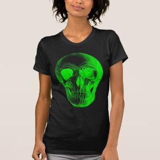 Camisa verde do crânio T