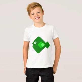 Camisa verde dos desenhos animados do divertimento